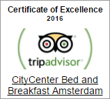 CityCenter Bed & Breakfast Amsterdam Award 2016