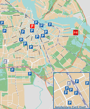 Amsterdam Bed and Breakafst CityCenter parking solutions map