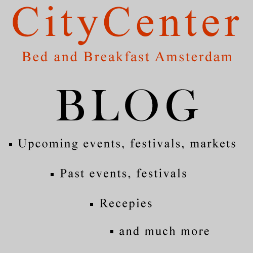 Amsterdam Bed and Breakfast CityCenter Blog Page.